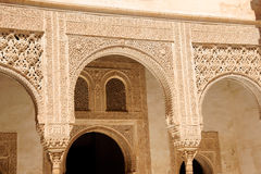 Arabic carvings at Nasrid Palaces in the Alhambra Stock Photo
