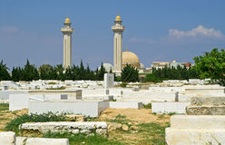 Arabic cemetery and Mausoleum of Habib Burguiba Royalty Free Stock Photography
