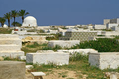 Arabic cemetery in Monastir royalty free stock photography