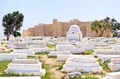 Arabic cemetery next to Ribat royalty free stock image