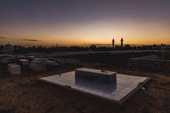 Arabic cemetery next to Ribat in Monastir, Tunisia Royalty Free Stock Photos