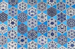 Arabic ceramic wall Royalty Free Stock Image