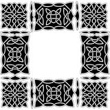 Arabic or Chinese black-and-white pattern of intertwined knots a. Arabic or Celtic black and white pattern of intertwined knots and floral ornaments in the form Vector Illustration