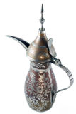 Arabic coffe pot - isolated. Traditional Arabic brass coffe pot - isolated stock images