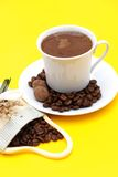 Arabic Coffee. Cup with coffee beans Royalty Free Stock Photos