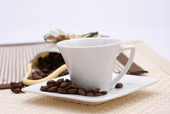 Arabic Coffee. Cup with coffee beans Royalty Free Stock Images