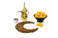 Arabic Coffee with Date Fruit Stock Photo