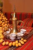 Arabic coffee pot. With dates display Stock Photos