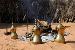Arabic Coffee Pots Royalty Free Stock Photos