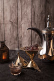 Arabic Coffee - Ramadan theme royalty free stock image