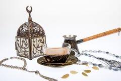 Arabic coffee in studio Royalty Free Stock Photography