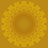 Arabic color mandala. Arabic mandala color background, yelow orange light Royalty Free Stock Photo