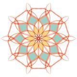 Arabic color mandala. Arabic mandala color background, yelow orange light Royalty Free Stock Photos