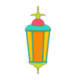 Arabic Colorful Lamp for Ramadan Kareem Stock Photos