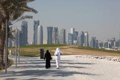 Arabic couple in Doha Royalty Free Stock Photos