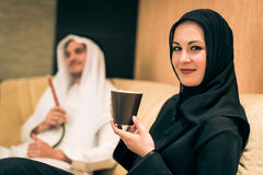 Arabic Couple At Home Stock Photography