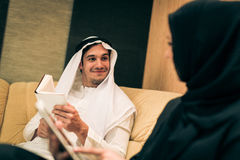 Arabic Couple At Home Stock Images