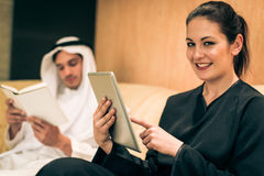 Arabic Couple At Home Royalty Free Stock Images