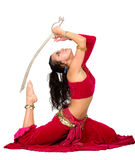 Arabic dancer with a sword Royalty Free Stock Images