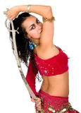 Arabic dancer with a sword Stock Images