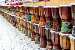 Arabic darbuka market . Stock Photo
