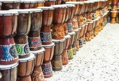 Arabic darbuka market . Stock Photos