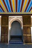 Arabic decorated door in Bahia Palace,Marrakesh,Morocco.  Stock Photo