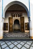Arabic docorations in Bahia Palace,Morocco. Arabic decorated door in Bahia Palace,Marrakesh,Morocco Stock Images
