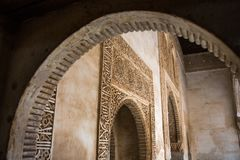 Arabic decorated door frames Royalty Free Stock Photography