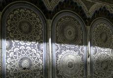 Arabic decoration wall. The arabic decoration wall in rabat Stock Photo