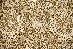 Arabic decorations detail. Close up shot of some Arabic decorations on a wall stock images