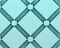 Arabic decorative composition with blue squaresashion vectors. Stock Photography