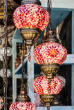 Arabic decorative lamps, oriental traditional souvenirs Royalty Free Stock Photography