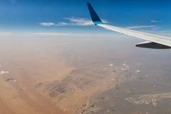 Arabic desert aerial view Royalty Free Stock Photo