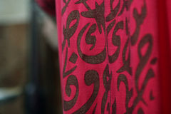 Arabic designs. Women clothes that have arabic designs Royalty Free Stock Image