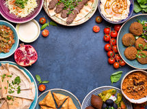 Arabic dishes background Royalty Free Stock Images