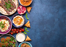 Arabic dishes background Stock Photography