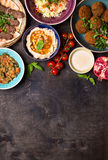 Arabic dishes background Royalty Free Stock Image