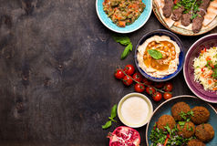 Arabic dishes background Royalty Free Stock Image