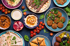 Arabic dishes and meze Royalty Free Stock Image