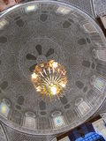 Arabic dome. In rich house in Tunisia royalty free stock images