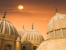 Arabic domes royalty free stock photo