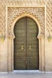 Arabic door. Arabic oriental styled door in Rabat, Morocco Royalty Free Stock Image
