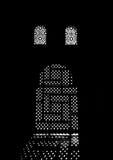 Arabic Door Silhouette Royalty Free Stock Image