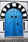 Arabic door. A traditional arabic door at tunis in tunisia Stock Photo