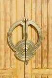 Arabic doors. With metal door handle Royalty Free Stock Image