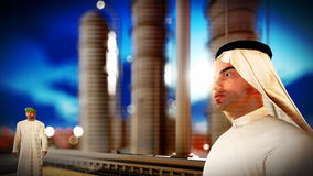 Arabic engineer at oil refinery Royalty Free Stock Photography