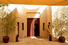 Arabic entrance door Stock Photos