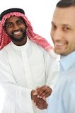 Arabic and european american business man Royalty Free Stock Photography