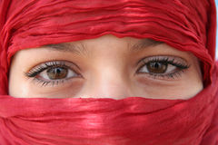 Arabic eyes Stock Images